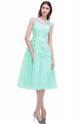 EMORY | Crew Tea Length Lace A-Line Appliques Short Prom Dresses_8