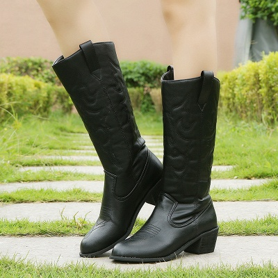 Fashion Brown Knee High Women's Boots_2