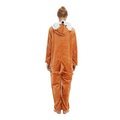 Cute Sleepwear for Women Brown Hoodie Onesies_19