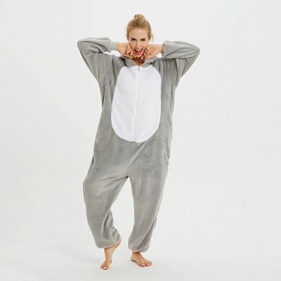 Adorable Adult Pyjamas for Women Long Ears MashiMaro Onesie, Grey_10