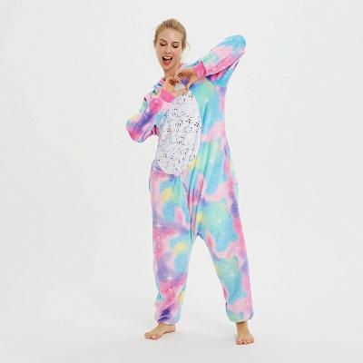 Cute Animal Pyjamas for Women Rainbow Hoodie Onesies_8