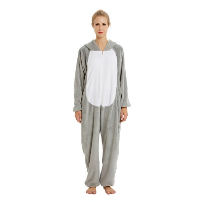 Adorable Adult Pyjamas for Women Long Ears MashiMaro Onesie, Grey_21