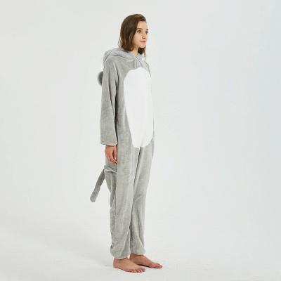 Cute Animal Pyjamas for Women Mouse Onesies, Grey_12