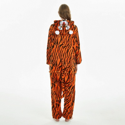 Lovely Adult Tiger Onesies Pajamas for Women_5