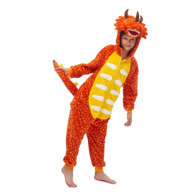 Lovely Animal Sleepwear Unicorn Onesies, Orange_1