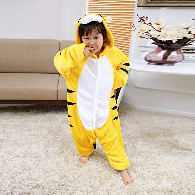 Cute Animal Pyjamas for Kids Tiger Onesies, Yellow_2
