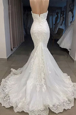 Off the Shoulder Mermaid Lace Wedding Dresses | Sexy Fit-and-Flare Bridal Gowns_3