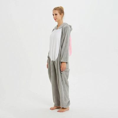 Adorable Adult Pyjamas for Women Long Ears MashiMaro Onesie, Grey_3