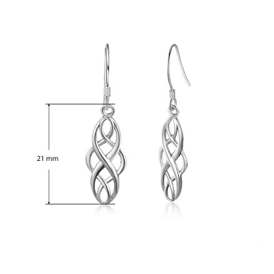 Chic Alloy Plated Ladies' Earrings Jewelry_5