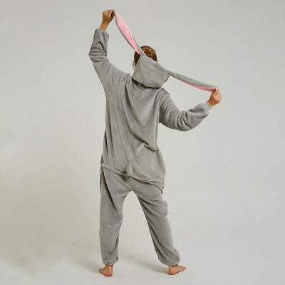 Adorable Adult Pyjamas for Women Long Ears MashiMaro Onesie, Grey_8