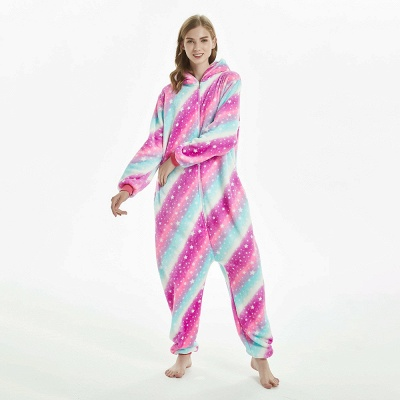 Downy Adult Coloful Onesies Pajamas for Women_13