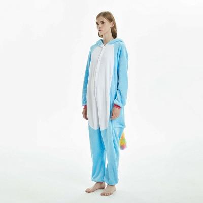 Downy Adult Sky Blue Unicorn Onesies Sleepwear for Girls_7