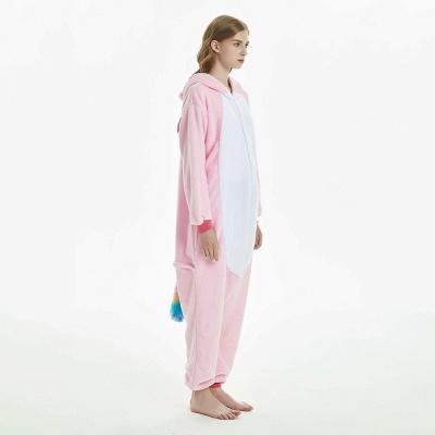 Cute Adult Pink Unicorn Onesies Sleepwear for Girls_4
