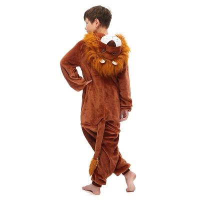 Cute Animal Sleepwear for Boys Lion Onesie, Brown_3