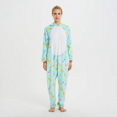 Cute Animal Pyjamas for Women Triceratops Onesie, Green_1