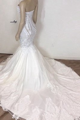 Strapless Sweetheart Lace  Mermaid Wedding Dresses | Sexy Fit-and-Flare Bridal Gowns_3