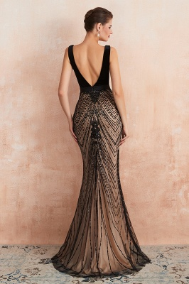 Straps Sweetheart Gorgeous Lace Sexy Black Long Prom Dresses | Elegant Black Evening Dresses_7