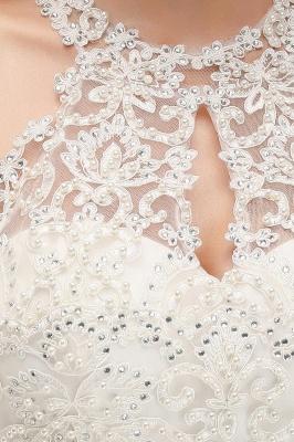Halter Full Back Applique Beaded Pearls Chiffon A Line Prom Dresses_7