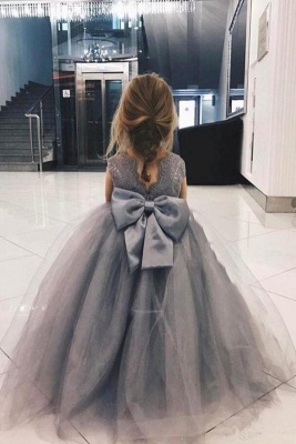 Sweet Affordable Tulle Flower Girl Dress  | Lovely Lace Bowknot Girls Pageant Dresses_2