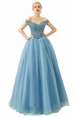 Off the Shoulder Sweetheart Jade A-line Long Prom Dresses | Elegant Evening Dresses Cheap_5