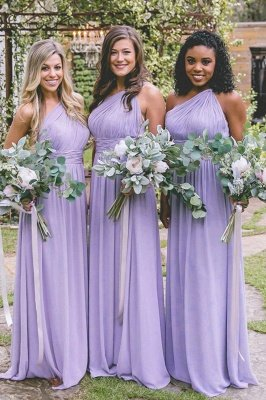 Lilac Convertible Long Cheap Chiffon Bridesmaid Dresses | Sexy Maid of Honor Dresses_1