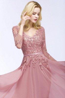 Elegant Chiffon Lace Dusty Rose Evening Dress_6