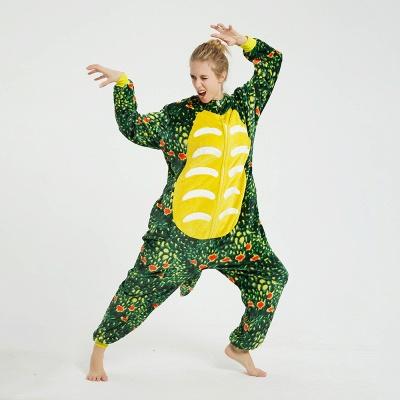 Adorable Adult Pyjamas for Women Triceratops Onesie, Green_5