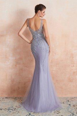 Sleeveless Bateau Beaded Sexy Long Mermaid Prom Dresses | Elegant Lilac Evening Dresses_5