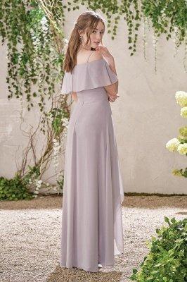 HI-Lo Jewel Short Sleeves Floor Length Bridesmaid Dresses | Cheap Maid of Honor Dresses_3