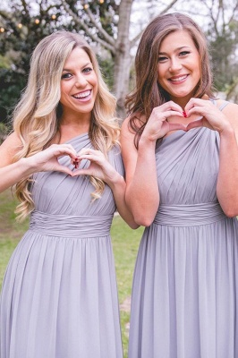 Lilac Convertible Long Cheap Chiffon Bridesmaid Dresses | Sexy Maid of Honor Dresses_6