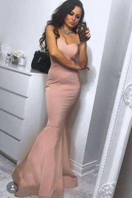 Sleek Strapless Sweetheart Long Prom Dresses | Sexy Evening Dresses