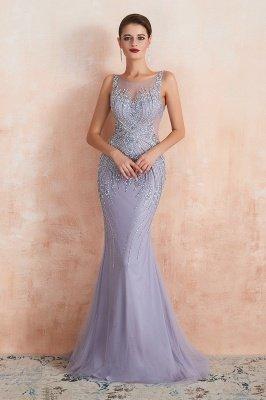 Sleeveless Bateau Beaded Sexy Long Mermaid Prom Dresses | Elegant Lilac Evening Dresses_9