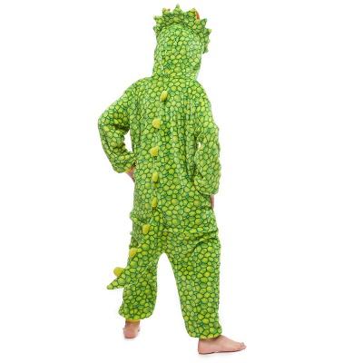 Lovely Animal Sleepwear Dinosaur Onesie, Green_5