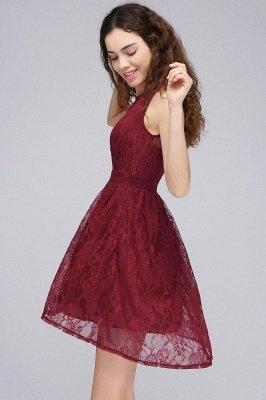 Lace Sleeveless A-line Burgundy Newest Illusion Homecoming Dress_2