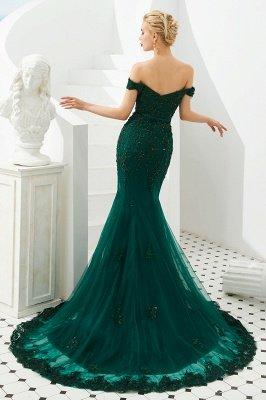Gorgeous Off the Shoulder Jade Long Mermaid Prom Dresses | Floor Length Evening Dresses_6