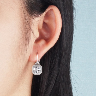 Chic Alloy Plated Earrings Jewelry for Ladies_3