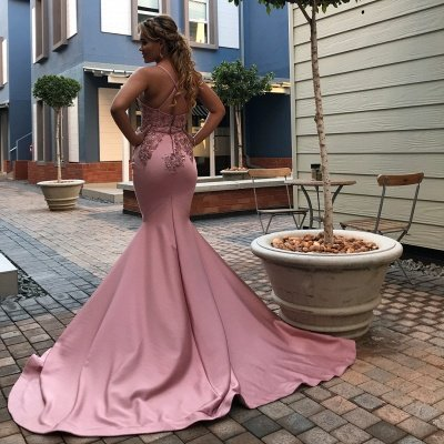 Spaghetti Straps Appliques Sexy Mermaid Prom Dresses | African Style Prom Dresses_2