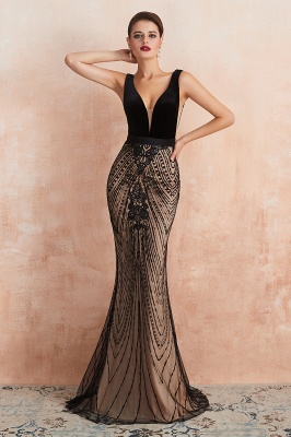 Straps Sweetheart Gorgeous Lace Sexy Black Long Prom Dresses | Elegant Black Evening Dresses_6