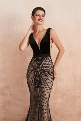 Straps Sweetheart Gorgeous Lace Sexy Black Long Prom Dresses | Elegant Black Evening Dresses_10