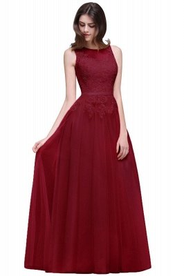 Lace Sleeveless Long Tulle Prom Dress_3