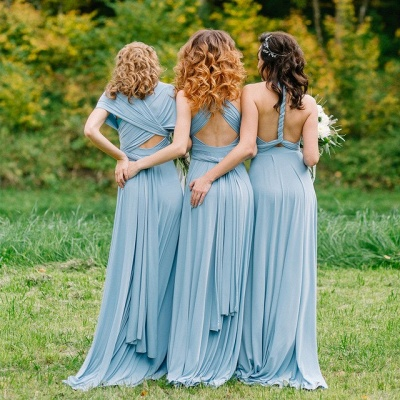 Convertible Blue Long Bridesmaid Dresses | Sexy Maid of Honor Dresses_4