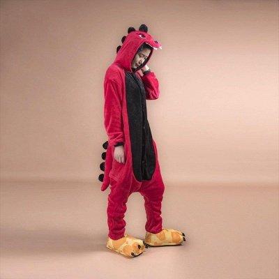 Cute Pyjamas for Women Dinosaur Onesie, Red_1