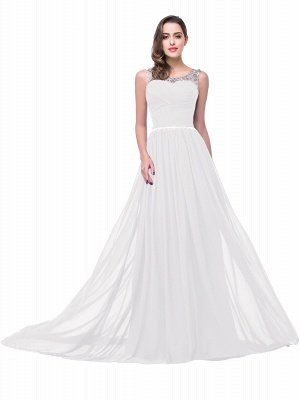 Cheap A-line Court Train Chiffon Party Dress With Beading in Stock_1