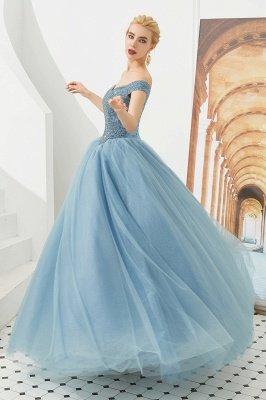 Off the Shoulder Sweetheart Jade A-line Long Prom Dresses | Elegant Evening Dresses Cheap_16