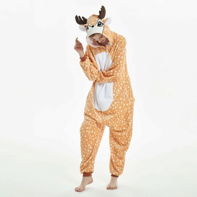 Cute Adult Deer Onesies Pajamas for Women