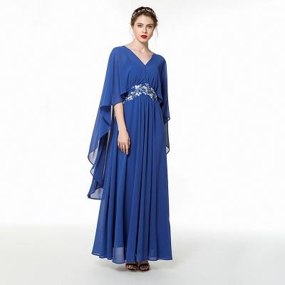 Long Chiffon Beaded Belted Prom Dresses | Floor Length Evening Dresses Online_4