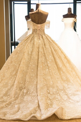 Eye-catching Strapless Lace-up Satin Wedding Dress | Haute Couture Bridal Gowns Series_3