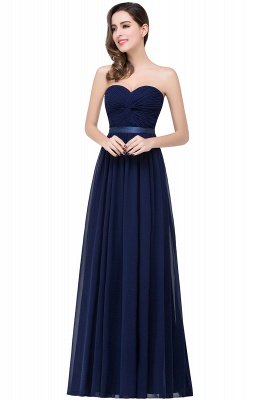 ADELINA   Simple A-line Strapless Chiffon Bridesmaid Dress with Draped_3