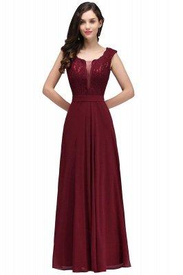Elegant Lace A-line Long Burgundy Prom Dress_2