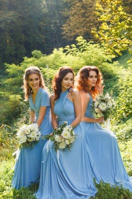 Convertible Blue Long Bridesmaid Dresses | Sexy Maid of Honor Dresses_9